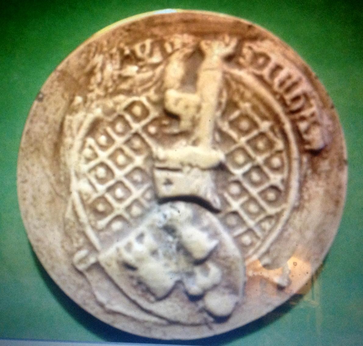 Sceau de Jehan II La Personne vicomte d'Acy, 1385, Arch. nationales.