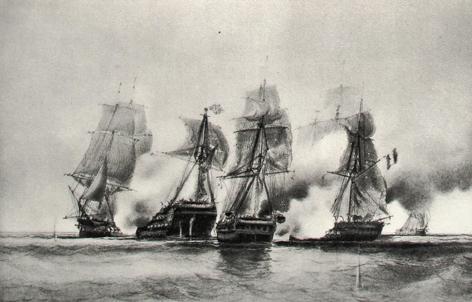 Cybele_et_Prudente_vs_2_bateaux_anglais_Jean_Baptiste_Henri_Durand_Brager_reduit.jpg