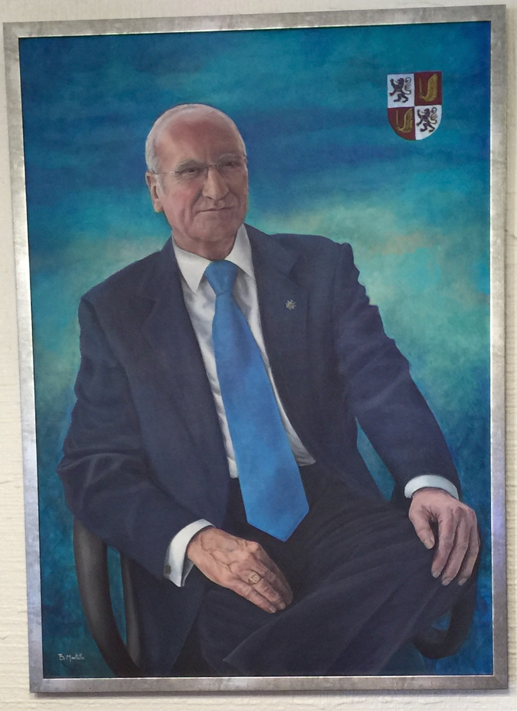 Retrato de Luis Manuel de Villena Cabeza realizado por Berta de Montells en julio 2015