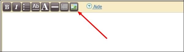clic sur le bouton image