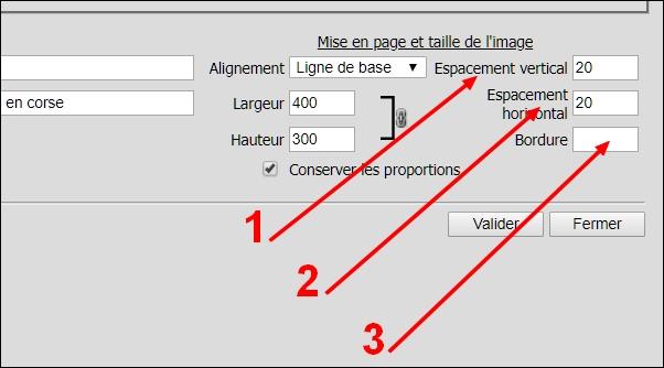procédure de spécification d'espacement