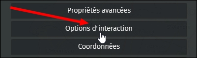 Options d'interaction