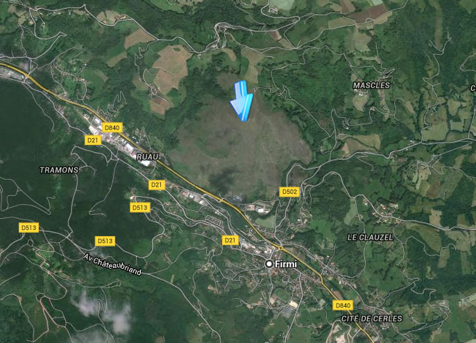 Vue aérienne du Puy de Wolf