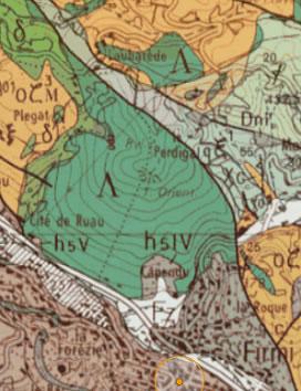 Terrains géologiques Puy de Wolf