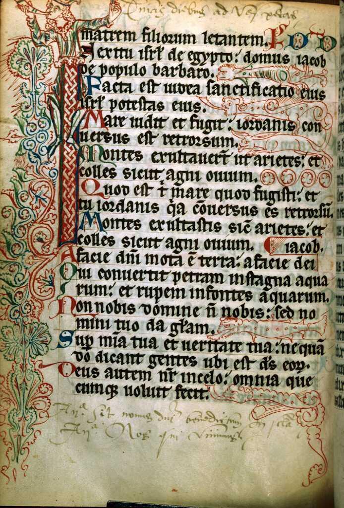 Le psautier de Bonmont - Ecriture et enluminure dans un manuscrit du XIIIe siècle
