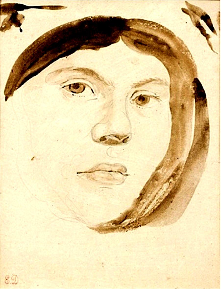 Jenny le GUILLOU jeune fille, portrait présumé