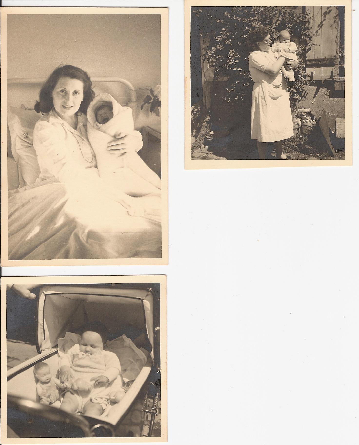 Sannois France  city photos gallery : naissance Muriel a Sannois France et avec sa mamy maternelle