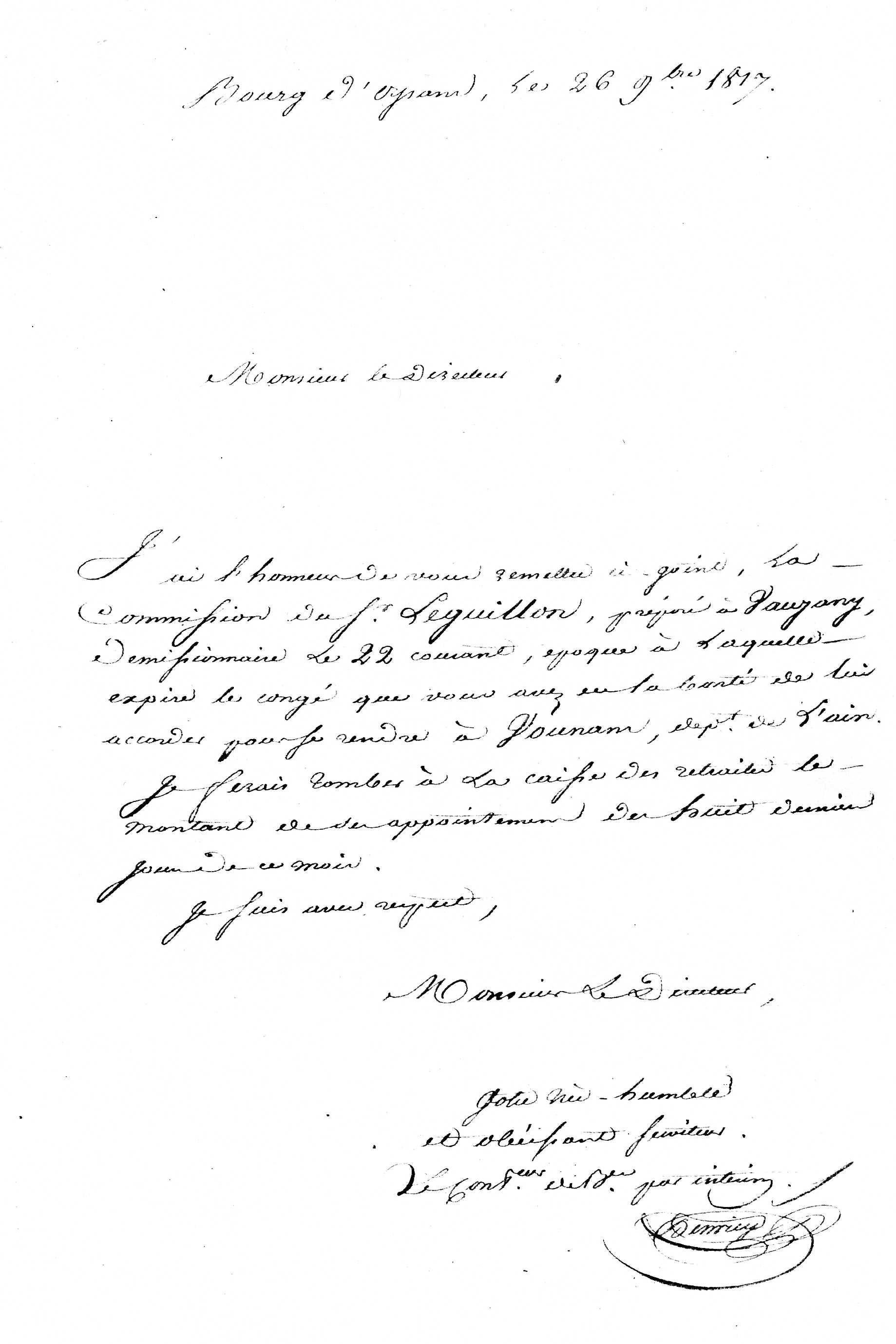 lettre de démission manuscrite ou informatique François LEGUILLON   Geneanet lettre de démission manuscrite ou informatique