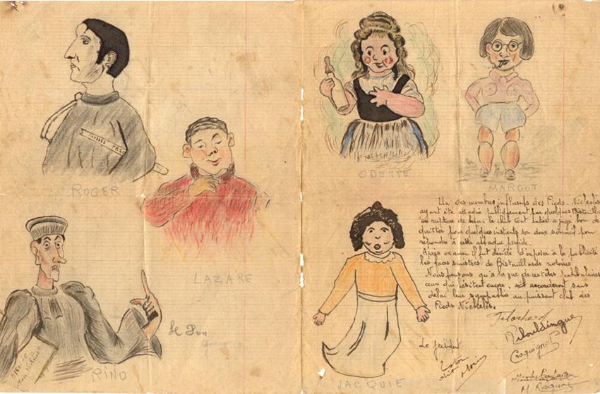 Carricatures des Bistouillardes