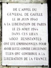 Plaque commémorative de la Petite Roquette
