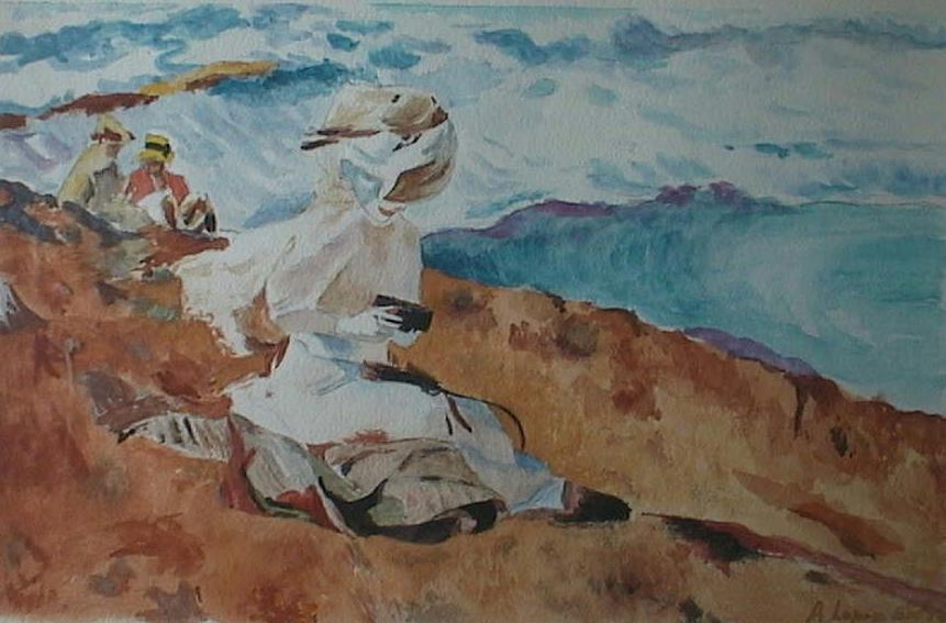 Acuarela pintada por Angel López Sidro y regalada a su cuñado Luis Manuel de Villena Mingorance