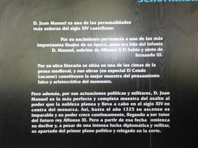 Paneles descriptivos de D. Juan Manuel