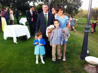Luis y Berta con sus hijos