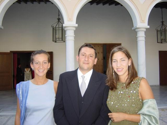 Con sus sobrinas Elvira y Araceli