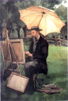 Autoportrait de Jean Henri ZUBER au travail
