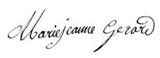 Marie Jeanne GERARD