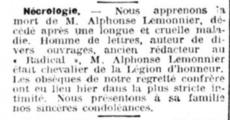 Alphonse Désiré René LEMONNIER