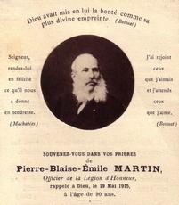 Pierre Blaise Émile MARTIN