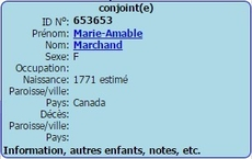 MARCHAND Marie Amable
