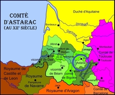 Garcie Arnaud I dit D'AURE, vicomte d'Astarac, Aure & Coarraze (64), vicomte d'Aster (65, Asté) 1264-ap1277 COARRAZE (de)
