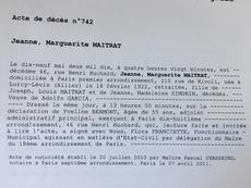 Jeanne Marguerite dit Jeannette Maitrat