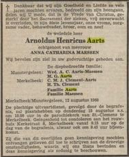 Arnoldus Hendrikus Aarts