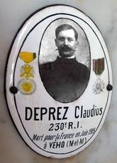 CLAUDIUS MARIE Dépré