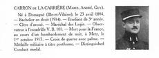Guy Marie André CARRON de LA CARRIERE